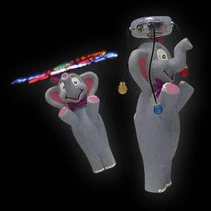 579-063 LED Wirbler Comic Elefant